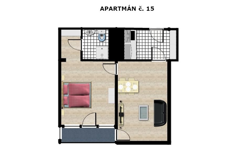 Apartmán č. 15